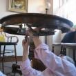 テーブル天板の化粧直し