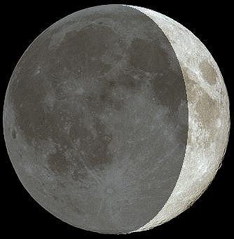 今日の月の形moon19