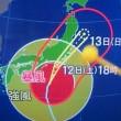台風19号真っ最中